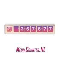 Smiirl Instagram Counter 7 digits